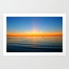 Sunset in Cape Cod Art Print