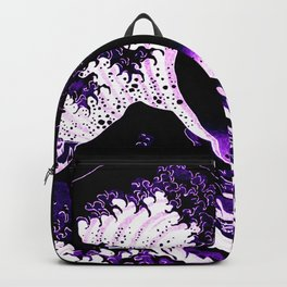 The Great Wave : Purple Backpack