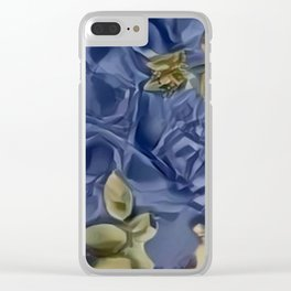 Blue Hole Paper Pattern Clear iPhone Case