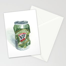 Crushed VB Beer Can - Victoria Bitter Stationery Cards