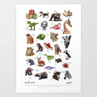 ABC Animals Art Print