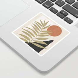 Tropical Leaf- Abstract Art 9 Sticker