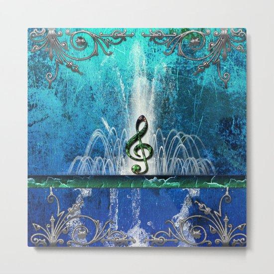 Music, clef Metal Print