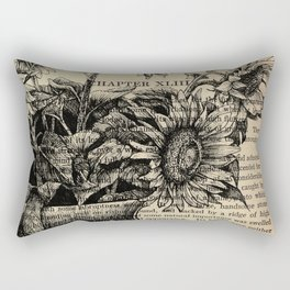 Pride & Prejudice, Chapter XLIII: Sunflowers Rectangular Pillow