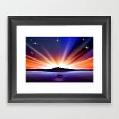 Great sunset. Framed Art Print