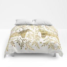 Swedish Dala Horses – Gold Palette Comforters
