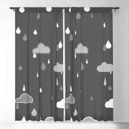 Grey Rains Blackout Curtain