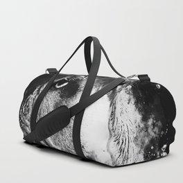 english bulldog dog splatter watercolor black white Duffle Bag