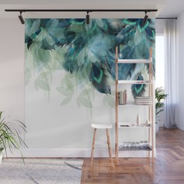 DREAMY FEATHERS & LEAVES Wall Mural
