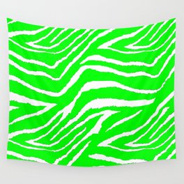 Green Zebra Abstract #2 Wall Tapestry