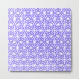 Cold Lilac Geometric Flowers and Florals Isosceles Triangle Metal Print