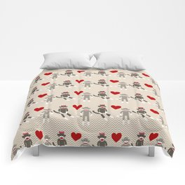 Sock Monkey Love Comforters