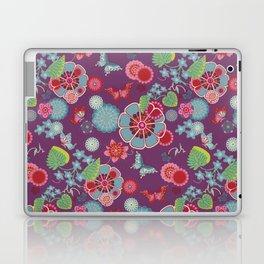 Sakura Dark Purple Laptop & iPad Skin