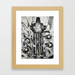 Upright bass Framed Art Print