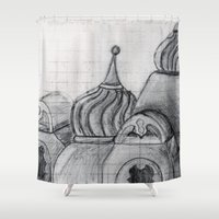 spires Shower Curtains featuring Spires by eckoepp