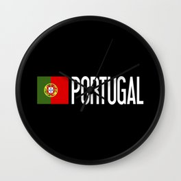 Portugal: Portuguese Flag & Portugal Wall Clock