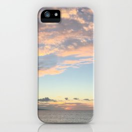 Panoramic Ocean Sunset Clouds off the Shores of Hawaii iPhone Case