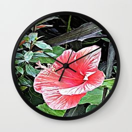The Flower of Passion Wall Clock
