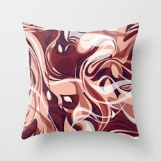 Marsala Shake Throw Pillow