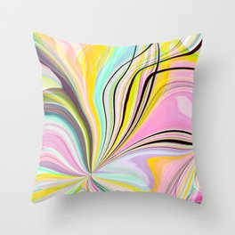 Abstract pastel Wave Design Throw Pillow
