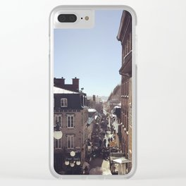 A Winter Morning's Stroll Clear iPhone Case