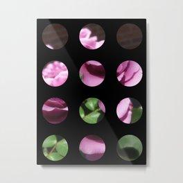 Rosas Moradas 1 Art Circles 2 Metal Print