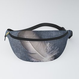Still life with grey feather Fanny Pack