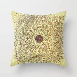 Flower circle Throw Pillow