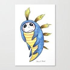 Blue Impworm Canvas Print
