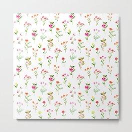 Sweet meadow || watercolor floral pattern Metal Print