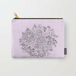 arrangement of flowers and leaves Carry-All Pouch