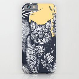 Bobcat and the Moon iPhone Case