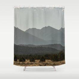 Rocky Mountain Haze Shower Curtain