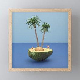 Avocado island Framed Mini Art Print