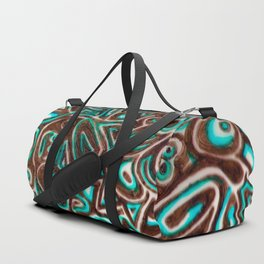 Jack Turquoise/Brown Duffle Bag