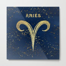 Aries Zodiac Sign Metal Print