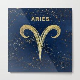 Aries Zodiac Sign Metal Print