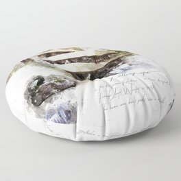 Falingwater Watercolor Floor Pillow