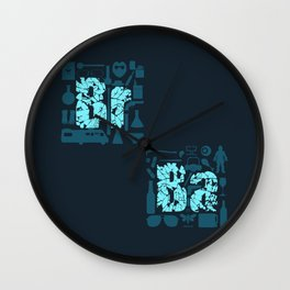 Br Ba Wall Clock