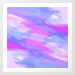 Watercolor Abstract Texture in Pastel Colors Art Print