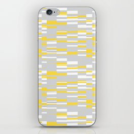 Mosaic Rectangles in Yellow Gray White #design #society6 #artprints iPhone Skin