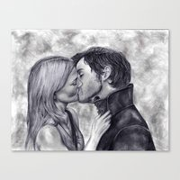 captain swan Canvas Prints featuring Captain Swan by Big Beautiful Blue Eyes