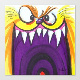 Mood Monster-Fuzzy Canvas Print