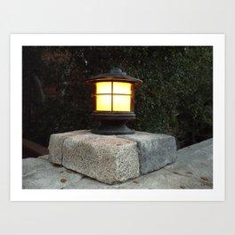 Pedestal Lamp Art Print
