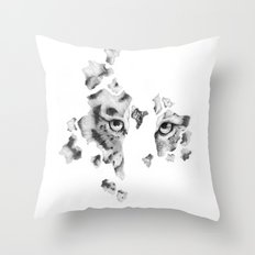 Fragile by Nature (Black and White version) Throw Pillow