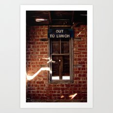 Out to Lunch Art Print