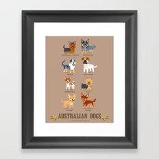 AUSSIE DOGS Framed Art Print