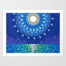 Full Moon Splendour Art Print
