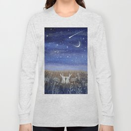 Hares and the Crescent Moon Long Sleeve T-shirt