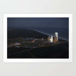 1375. Orion Launch from Helicopter - Aerials Art Print
